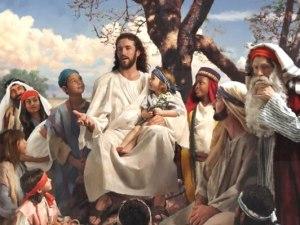 Jesús con gente