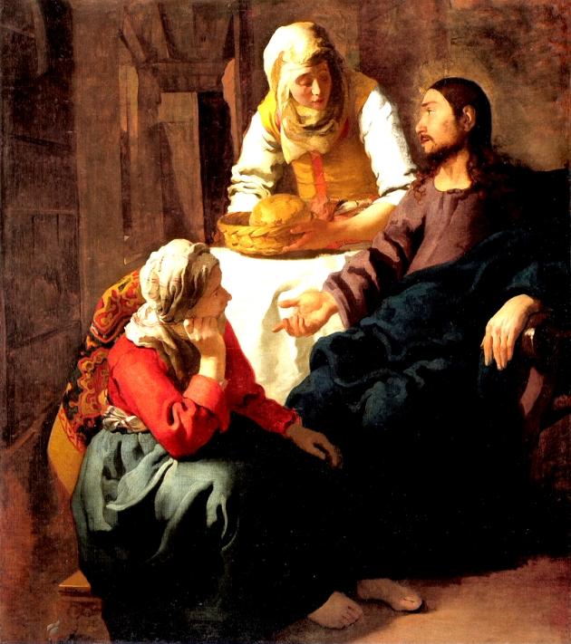 MARTA Y MARÍA.-Jan Vermeer van Delft.-BARROCO